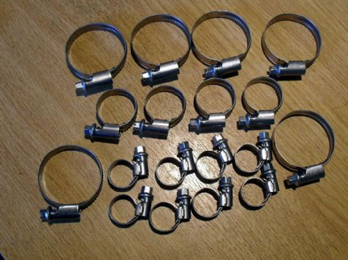 Hose clip set, all cooling hoses, Mazda MX-5 mk1, 18 hose clips